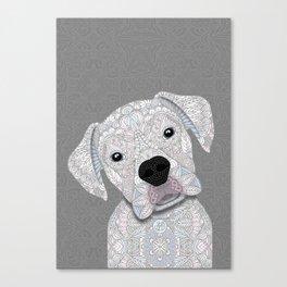 Cute White Boxer Canvas Print