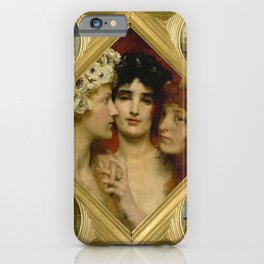 "Sir Lawrence Alma-Tadema ""The Three Graces"" iPhone Case"