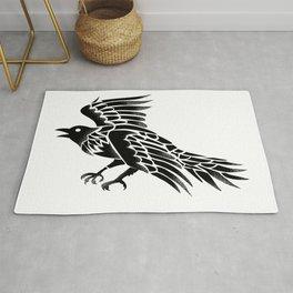 Raven Flying Side Tattoo Rug