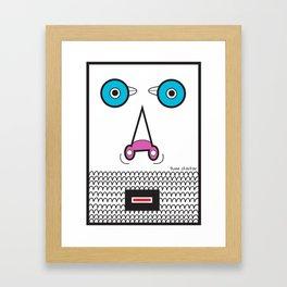 just  borne me & you Framed Art Print