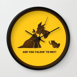 Are you talkin to me? Wall Clock