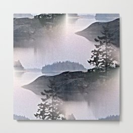 Misty Glow at Archipelago Metal Print