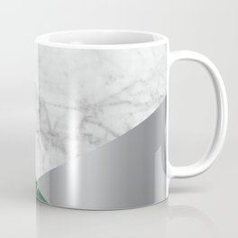 White Marble - Green Granite & Silver #999 Coffee Mug