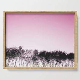 Lovely pink sky Serving Tray
