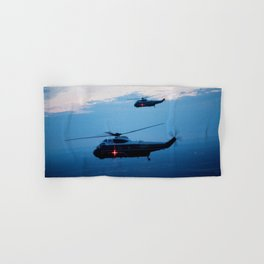 Support Helicopters Fly at Dusk Hand & Bath Towel