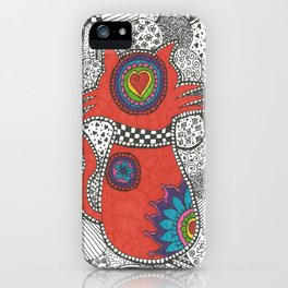 Kitty-tangle iPhone Case