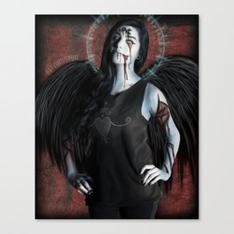 Ghoulish Glamour - Scabbed Angel Canvas Print