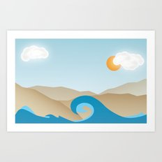 Beach Paradox Art Print
