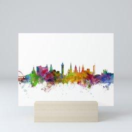 Glasgow Scotland Skyline Cityscape Mini Art Print