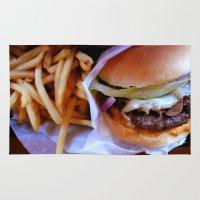 burger Area & Throw Rugs featuring burger by SantaCruz PhotoTours
