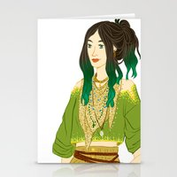 grantaire Stationery Cards featuring GENDERBENT : GRANTAIRE by Cy-lindric