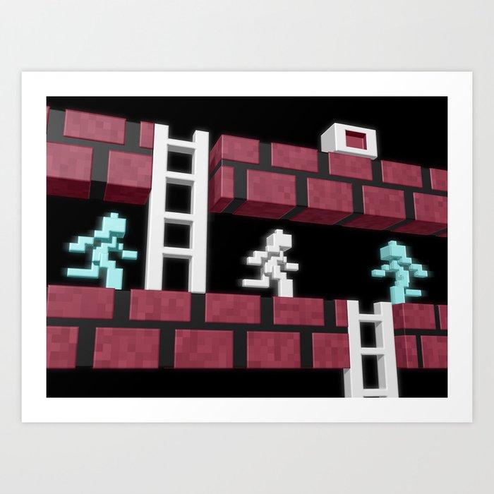 Inside Lode Runner Art Print