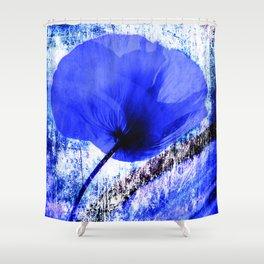 Blue Poppy vintage 222 Shower Curtain