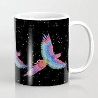 parrot Mugs featuring Parrot by Luna Portnoi