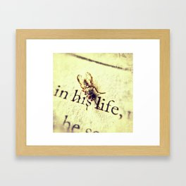 In His Life: The Portrait of a Fly Framed Art Print