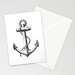 Anchor - Navy Symbol Stationery Cards
