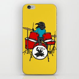 Salty Raven Drummer from Flock of Gerrys iPhone Skin