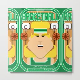 Basketball Green - Alleyoop Buzzerbeater - Hazel version Metal Print