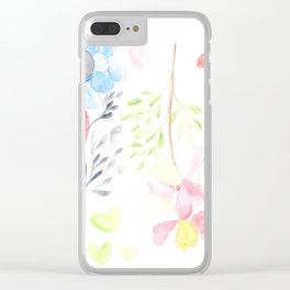 170404 Steady Pacing 14 |Modern Watercolor Art | Abstract Watercolors Clear iPhone Case