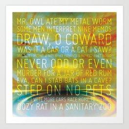 Palindrome Number 1 Art Print