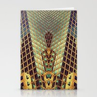 art deco Stationery Cards featuring Art Deco by Sabina Miklowitz