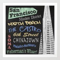 San Francisco Tourism Poster Art Print