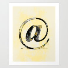 At Sign {@} Series - Baskerville Typeface Art Print