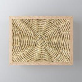 Rattan wickerwork texture Framed Mini Art Print