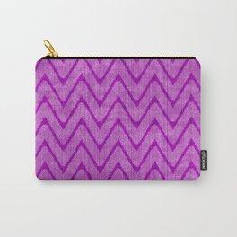 Vivid Purple Mauve Chevron Pattern Carry-All Pouch