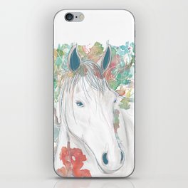 Watercolor Horse Illustration by McKenna Sendall iPhone Skin
