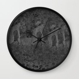 Autumn Memory by Lu, black-and-white Wall Clock