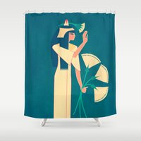 egypt Shower Curtains featuring ancient egypt no.2 by namaki