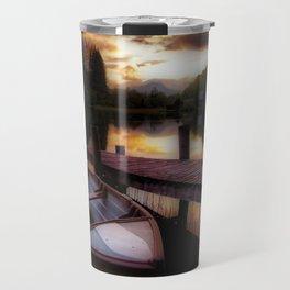 Summer Sunset Over Loch Ard Travel Mug