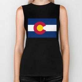 Colorado state flag (High Def file) Biker Tank