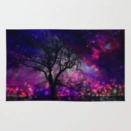 Lonely winter tree Rug