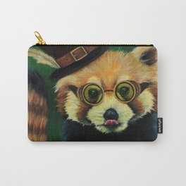 Steampunk Red Panda Carry-All Pouch