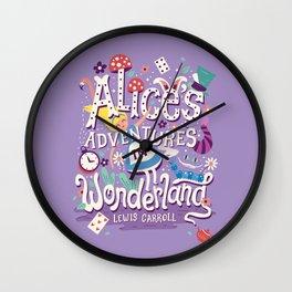 Alice's Adventures in Wonderland - Lewis Carroll Wall Clock