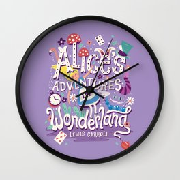 Alice's Adventures in Wonderland - Lewis Carroll Wall Clock