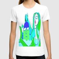 aquaman T-shirts featuring aquaman and the mermaid by Davey Charles