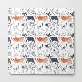 dogs pattern Metal Print