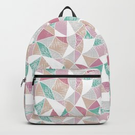 Abstract graphic pattern. Fun triangles. Backpack