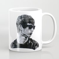 sunglasses Mugs featuring Sunglasses by Charlotte Massey