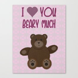 Beary Love Canvas Print