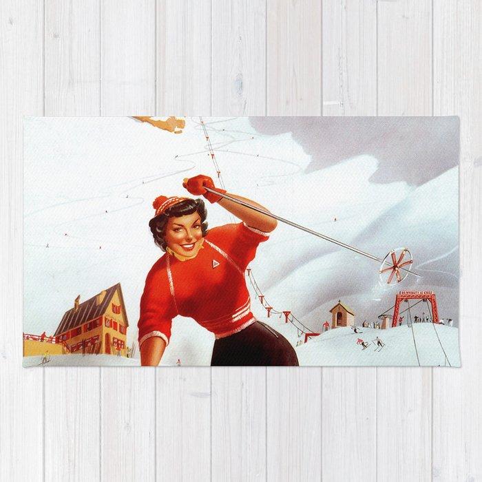 Limone Piemonte ski Italy Rug