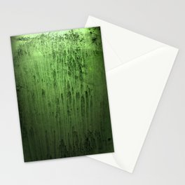 Old green window at night Stationery Cards