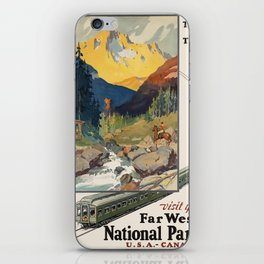 Vintage poster - National parks iPhone Skin
