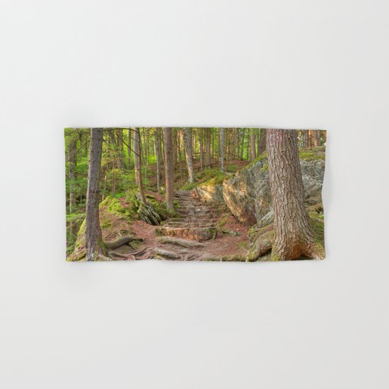 Green Mountain Forest Trail Hand & Bath Towel