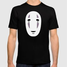 No Face LARGE Black Mens Fitted Tee