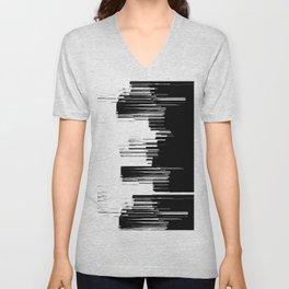 Black And White City Unisex V-Neck