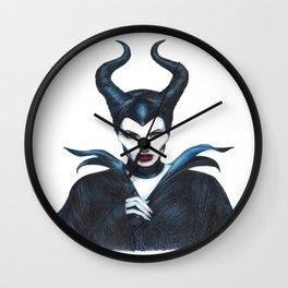 Maleficent Drawing Wall Clock
